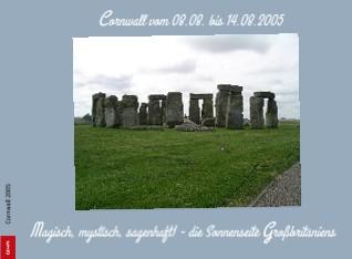 Cornwall vom 08.08. bis 14.08.2005 - jetzt anschauen