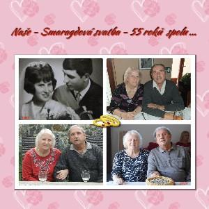 Naše - Smaragdová svatba - 55 roků spolu ... - Zobrazit knihu