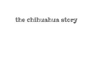 the chihuahua story - Zobrazit knihu