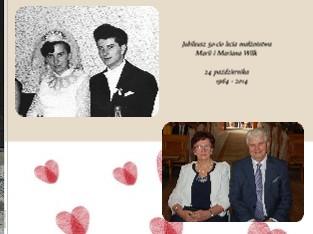 Jubileusz 50-cio lecia małżeństwa Marii i Mariana Wilk 24 października 1964 - 2014 - Zobacz teraz