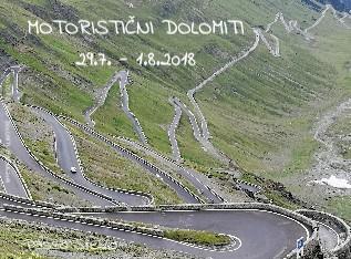 MOTORISTIČNI DOLOMITI 29.7. - 1.8.2018 - Pokaži knjigo
