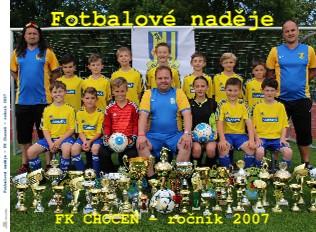 Fotbalové naděje - FK Choceň - ročník 2007 - Zobrazit knihu