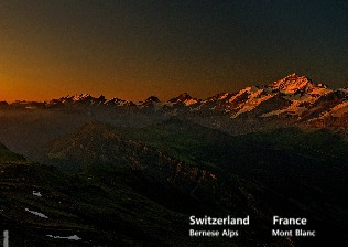 Switzerland France Bernese Alps Mont Blanc - Zobrazit knihu