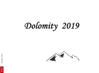 Dolomity 2019 - Zobrazit knihu